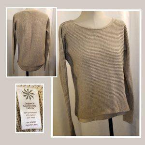 Athleta Huntly OatmealHeather Wool Blend Sweater S